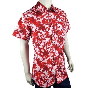EH! Canadian Short Sleeve Casual Shirt Size M